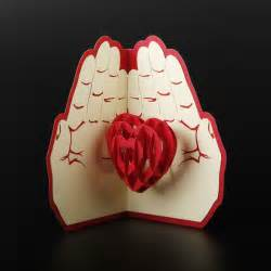 wedding invitations app free shipping 3d pop up greeting card paper carving heart