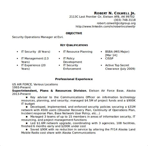 sle operations manager resume 9 free