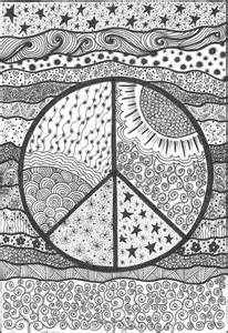 Psychedelic Peace Coloring Pages