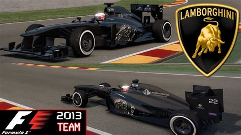 F1 2013  Lamborghini F1 Team Mods Pc Hd Youtube