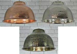 Hammered Metal Pendant Light by Metal Hammered Vintage Ceiling Light Pendant L Shade Ebay