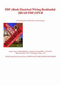 Electrical Wiring Residential Book Pdf  Donkeytime Org