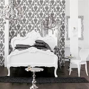 Graue Tapete Schlafzimmer : barock tapete 38 atemberaubende fotos ~ Michelbontemps.com Haus und Dekorationen