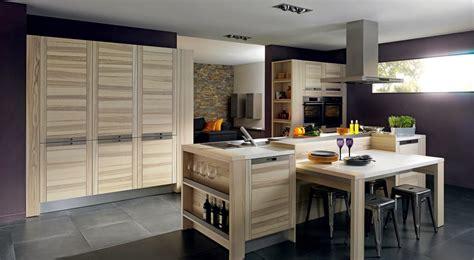photo cuisine moderne cuisine bois