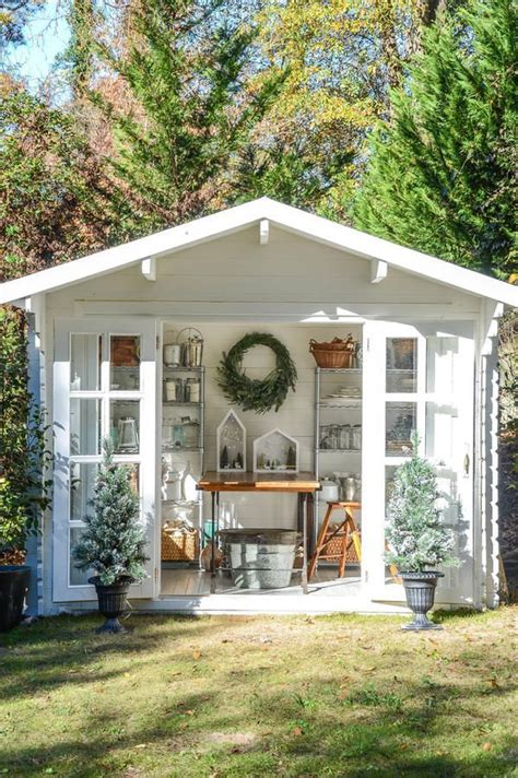 charming garden sheds  pinterest backyard