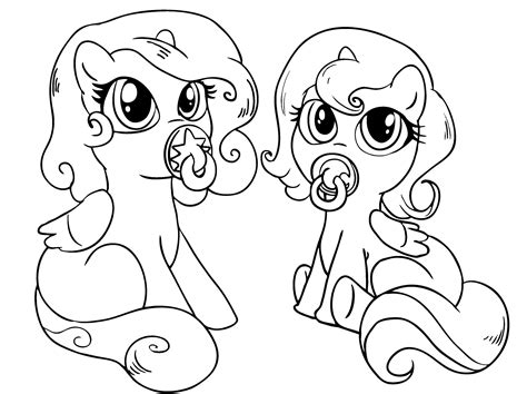 pony coloring pages  sun flower pages