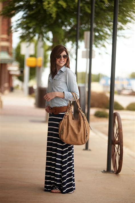 25+ best ideas about Navy maxi on Pinterest | Navy maxi skirts Long striped skirts and Long ...