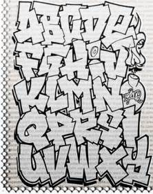 design graffiti alphabet fonts letter a z tagging graffiti alphabets