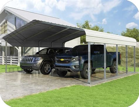 steel carport kits versatube 20x20x7 classic steel carport kit cm020200070