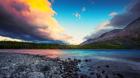 Our wallpapers come in all sizes, shapes, and colors, and they're all free to download. Superb Sky Over Beautiful Lscape Hd Wallpaper 600994 ...