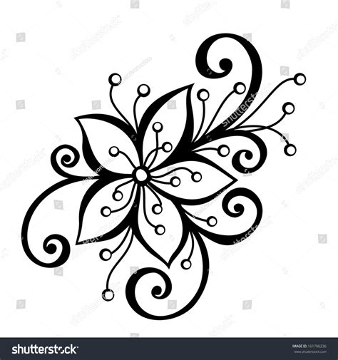 decorative flower and leaf designs beautiful decorative flower leaves vector patterned stock vector 161706236 shutterstock