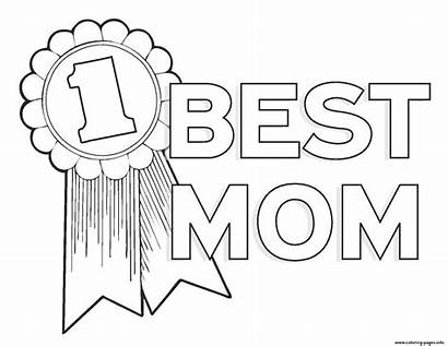 Mom Coloring Number Worlds Mothers Pages Printable