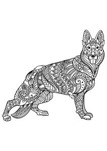 dogs coloring pages  adults