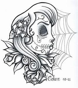 Tete De Mort Mexicaine Femme : coloriage t te de mort pour fille dessin gratuit imprimer ~ Melissatoandfro.com Idées de Décoration