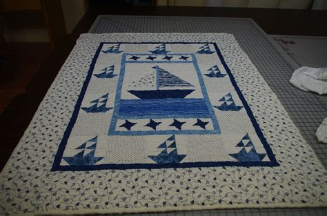 Fishing Boat Quilt by Gwenda Quilts Boats