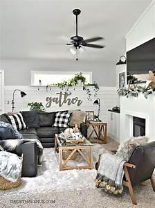 Living, Room, Farmhouse, Decor, Ideas