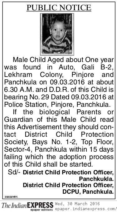 District Child Protection Unit Panchkula Violates the Law