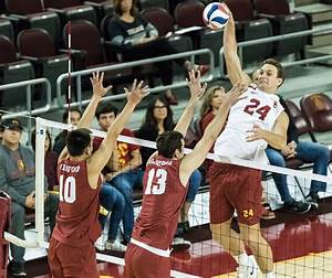 Men's volleyball falls short against dominant BYU | Daily ...