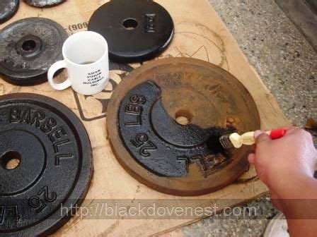clean  paint rusty  weight plates     blackdove nest