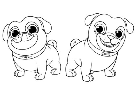 coloring pages  puppy dog pals printing pages en