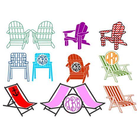beach chairs svg cuttable frames
