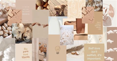 beige white aesthetic collage in 2021 macbook air