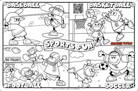 Here's A Sports Fun Scribble Art Activity Sheet. Print It