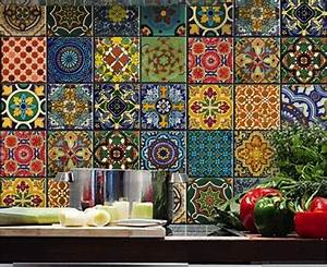 best 25 spanish tile kitchen ideas on pinterest spanish With best brand of paint for kitchen cabinets with mexican ceramic wall art