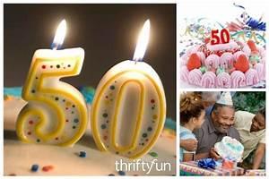 Unique 50th Birthday Party Ideas   ThriftyFun