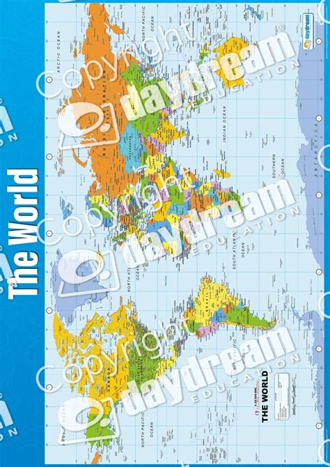 The World | Geography Educational School Posters