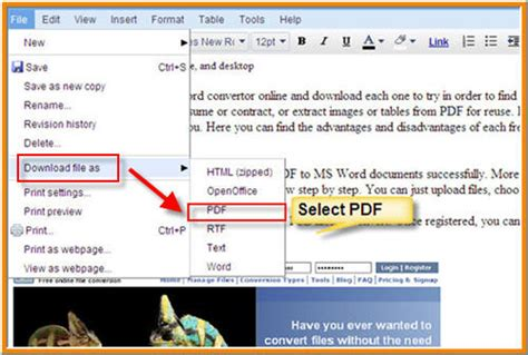 save a word file doc and docx as a pdf for free