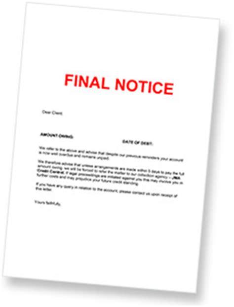 debt collection letter jma credit control