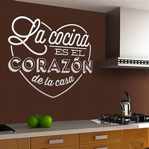 wall stickers spanish cocina heart vinyl wall mural decal With kitchen colors with white cabinets with qc passed sticker