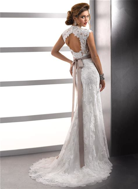 sleeve lace open back wedding dress cap sleeves vintage lace wedding dresses with open