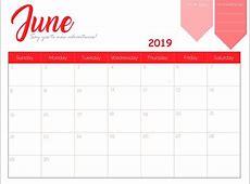 Free Printable 2019 Monthly Calendar Latest Calendar