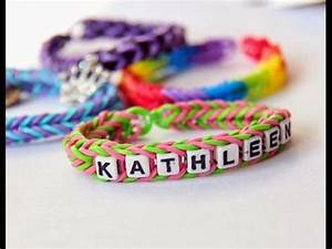 Bracelet Avec Elastique : bracelet lastique bracelet lastique avec son pr nom youtube ~ Melissatoandfro.com Idées de Décoration