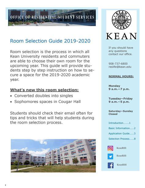 room selection academic year kean university residence