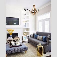 10 Interior Design Ideas On How To Match Blue And Gold