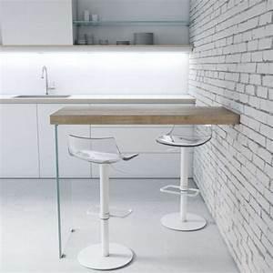Table Cuisine Murale : table snack murale en stratifi avec pied verre fix 4 ~ Melissatoandfro.com Idées de Décoration