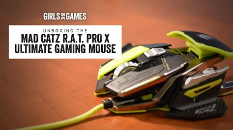 Unboxing The Mad Catz Rat Pro X Ultra Gaming Mouse