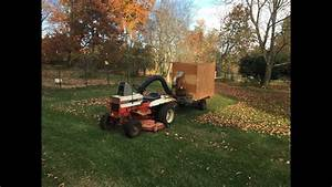 Gravely 812 On Leaf Duty With Giant Vac Home Made Leaf Vac