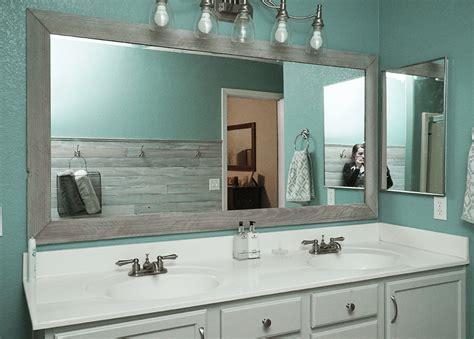 diy bathroom mirror frame    rise  renovate