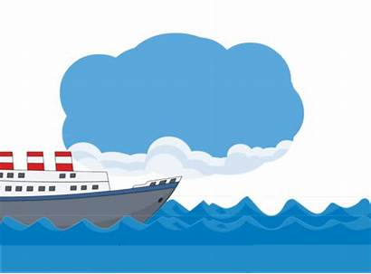 Ship Ocean Clipart Animation Clip Animated Transportation