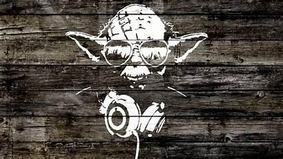 Star Headphones Wars Yoda Wallpoper Desktop Graffiti