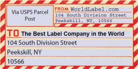vintage gummed parcel post shipping labels worldlabel blog