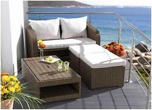 Balkonmöbel Für Kleinen Balkon : lounge m bel kleiner balkon ~ Markanthonyermac.com Haus und Dekorationen