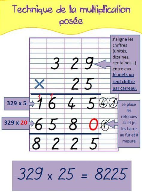 affichage table de multiplication la technique de la multiplication pos 233 e pour m 233 mo ou affichage des documents p 233 dagogiques 224