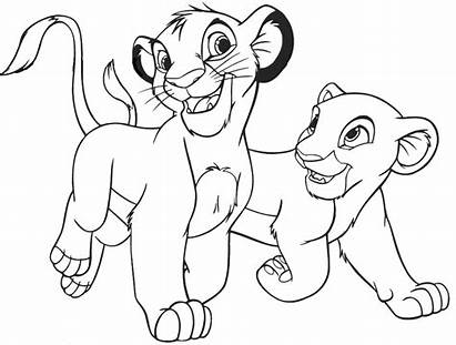 Lion Coloring King Pages Simba Nala Young