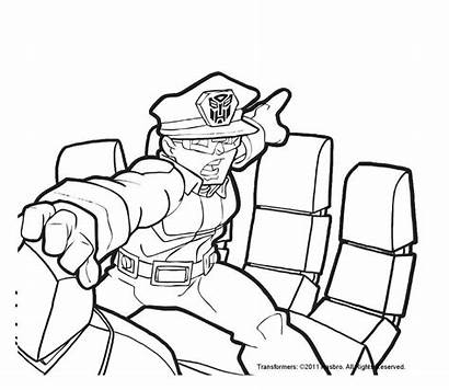 Rescue Bots Coloring Pages Transformers Police Bot