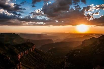 Canyon Grand North Rim Sunset Less Arizona